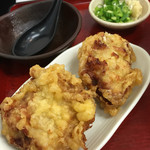 極楽うどん TKU - 鶏天セットは鶏天が2個!*\(^o^)/*
