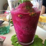 皿の上の自然il Gastro Sara - 島フルーツのスムージー