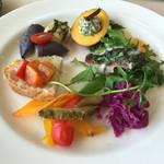 皿の上の自然il Gastro Sara - 前菜の盛り合わせ