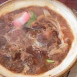 牛鍋うどん 楽 - 味噌