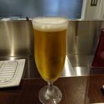 串揚げ 串の実 - 生ビール「スーパードライ」600円