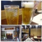 魚と肴 - ◆まずは「ビール(480円)」と「梅酒ソーダ割り(450円)・・良心的価格ですね。