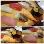 魚と肴 - ◆にぎり9貫(1980円)