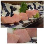 魚と肴 - ◆トロの刺身(980円)・・上品な脂を感じ美味しい「トロ」です。 脂があまり多いと途中からくどくなりますから、この程度がいいですね。