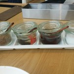 Rice people,Nice people! - 左から 唐辛子、お酢、ナンプラー、砂糖