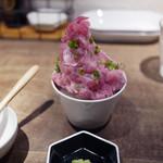 ヒガシノマグロ - てんこ盛りネギトロ丼~☆