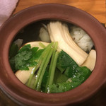 まるき - 鱧と松茸の土瓶蒸し