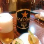 加奈井 - ビールとおつけもの