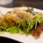 air cafe centralgarden  - 焼きナスと揚げの和風サラダ