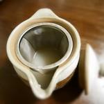 天徳 - 蕎麦湯