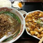 中華料理 喜多郎 - 麻婆豆腐定食 980円+税