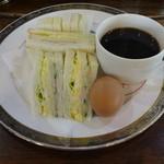あきない - 料理写真:サンドイッチモーニング400円(税込) ※ドリンク代のみ