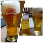 BASSIN - *一番搾り(580円)、一番搾りプレミアム(630円)、ハードシードル(リンゴ風味のビール:500円)