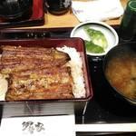 寿司 うまいもの処 伊勢家 - うなぎ、肝吸いをとん汁にチェンジ