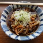 田上 - かき揚げ天そば 420円 ナカナカの昭和のイケ麺。