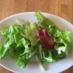 カフェ ポー - Lunchプレートの前菜 サラダ到着