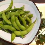 魚蔵 - 茹で上げ枝豆(ふぐコース料理・10品コース)