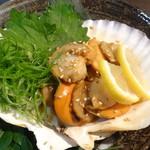 魚蔵 - 大粒ホタテのステーキ(ふぐコース料理・10品コース)