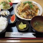 たからもち食堂 - 料理写真:豚キムチ野菜炒め定食