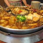 丸和前ラーメン - この丸鍋が小倉屋台おでんです