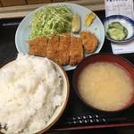 乃んき食堂 - とんかつ定食(ごはん大盛り)