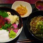 54015535 - 鰻蒲焼きと二色丼とそば定食