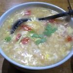 馬記 蒙古肉餅 - 疙瘩湯(麺団スープ)