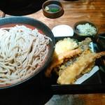 乱切り蕎麦 浜寅 - 天ぷらせいろ(大盛り):昼メニュー