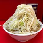 ラーメン二郎 - 小ラーメン麺半分野菜マシ