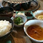 グルメリア但馬 - ★★★★ 神戸高見牛 網焼きランチコース ご飯セット ウインナーはピリ辛より普通の方が好き