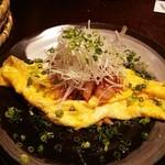 わっしょい - 納豆キムチオムレツ