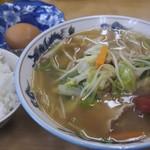 栄食堂 - 料理写真:チャンポン、めし(中)、卵