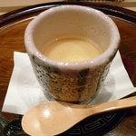 福樹 - 茶碗蒸しの下には梅肉が隠れています