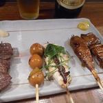串焼 文福 - 串焼き+煮込みセット1200円