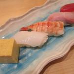 あっぱれ寿司 - 握り5種