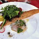 カーブドッチ - コース料理(スズキのセビーチェとハーブサラダ)(2016年7月)
