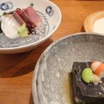 5404548 - 黒ゴマ豆腐&お刺身