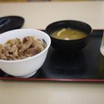 松屋 - 料理写真:牛めしミニ&生ビール~☆