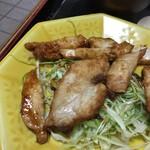 かちどき食堂 - 鶏むね肉生姜焼き定食