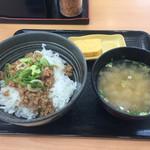 吉野家 - 鶏そぼろ飯定食(朝メニュー)