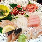 旬魚や 魚いち - お刺身盛り合わせ(単品)1,400円