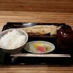 銀座 しぶ谷 - 魚定食(税込み1296円)