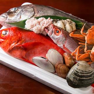 新鮮な魚が当店のウリです!