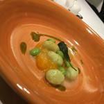 リストランテ ローザネーラ ダッロチェーアノ - 枝豆のニョッキ 美味しかった!