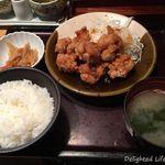 54073408 - 鶏の唐揚げ明太風味定食(1000円税込)16.7月