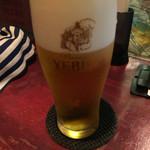 ローマ軒 - エビスビール540円