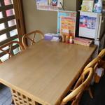 ルンビニカレーハウス - 仲間とテーブルで楽しく♪