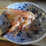 まるみつ寿司 - 車海老の頭は塩焼きにしてくれました。