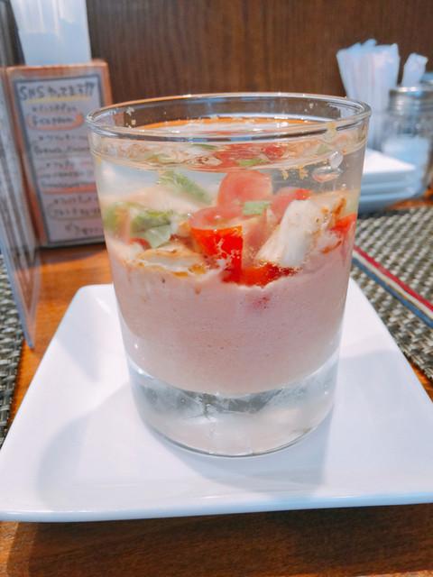 フレンチカレー スプーン - トマトのムースとレモンのジュレ