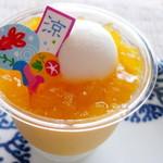 パティスリー ソルシエール - マンゴープリン ¥430(税抜)。夏にぴったりの爽やかなお味でした。